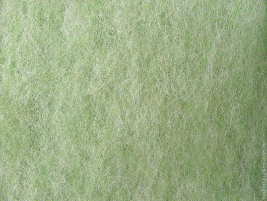 Валяние ручной работы. Ярмарка Мастеров - ручная работа. Купить Шерсть для валяния кардочес (меланж),  27 мкр, Зеленый. Handmade.