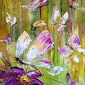 Картины и панно handmade. Livemaster - original item Butterfly on the meadow. Handmade.