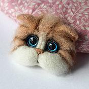 Украшения handmade. Livemaster - original item Brooch felted muzzle cats. Handmade.