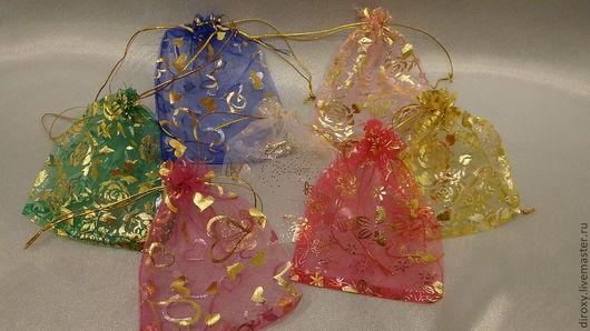 Упаковка ручной работы. Ярмарка Мастеров - ручная работа. Купить Мешочки из органзы однотонные и цветные 12 х 15. Handmade.