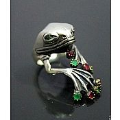 Украшения handmade. Livemaster - original item Rings: unique frog Princess Ring. Handmade.