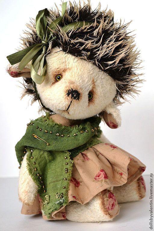 Мишки Тедди ручной работы. Ярмарка Мастеров - ручная работа. Купить Жанни- Жаночка ежик тедди. Handmade. Бежевый