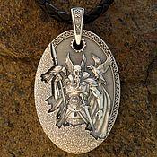 Украшения handmade. Livemaster - original item Pendant / Amulet Odin of silver 925 with black. Handmade.
