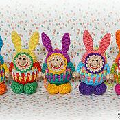 """Куклы и игрушки ручной работы. Ярмарка Мастеров - ручная работа Чудики вязаные """"Зайки"""". Handmade."""