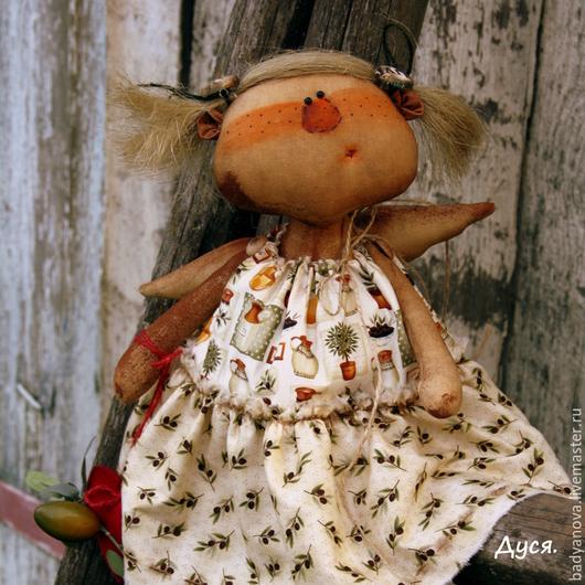 Ароматизированные куклы ручной работы. Ярмарка Мастеров - ручная работа. Купить Ангелушка Дуся.. Handmade. Коричневый, авторская ручная работа