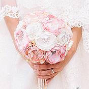 Wedding bouquets handmade. Livemaster - original item Pastel brooch-bouquet. Handmade.