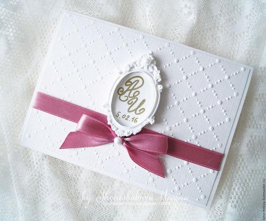 Свадебные аксессуары ручной работы. Ярмарка Мастеров - ручная работа. Купить Приглашение на свадьбу с рамочкой (7). Handmade. Розовый, москва