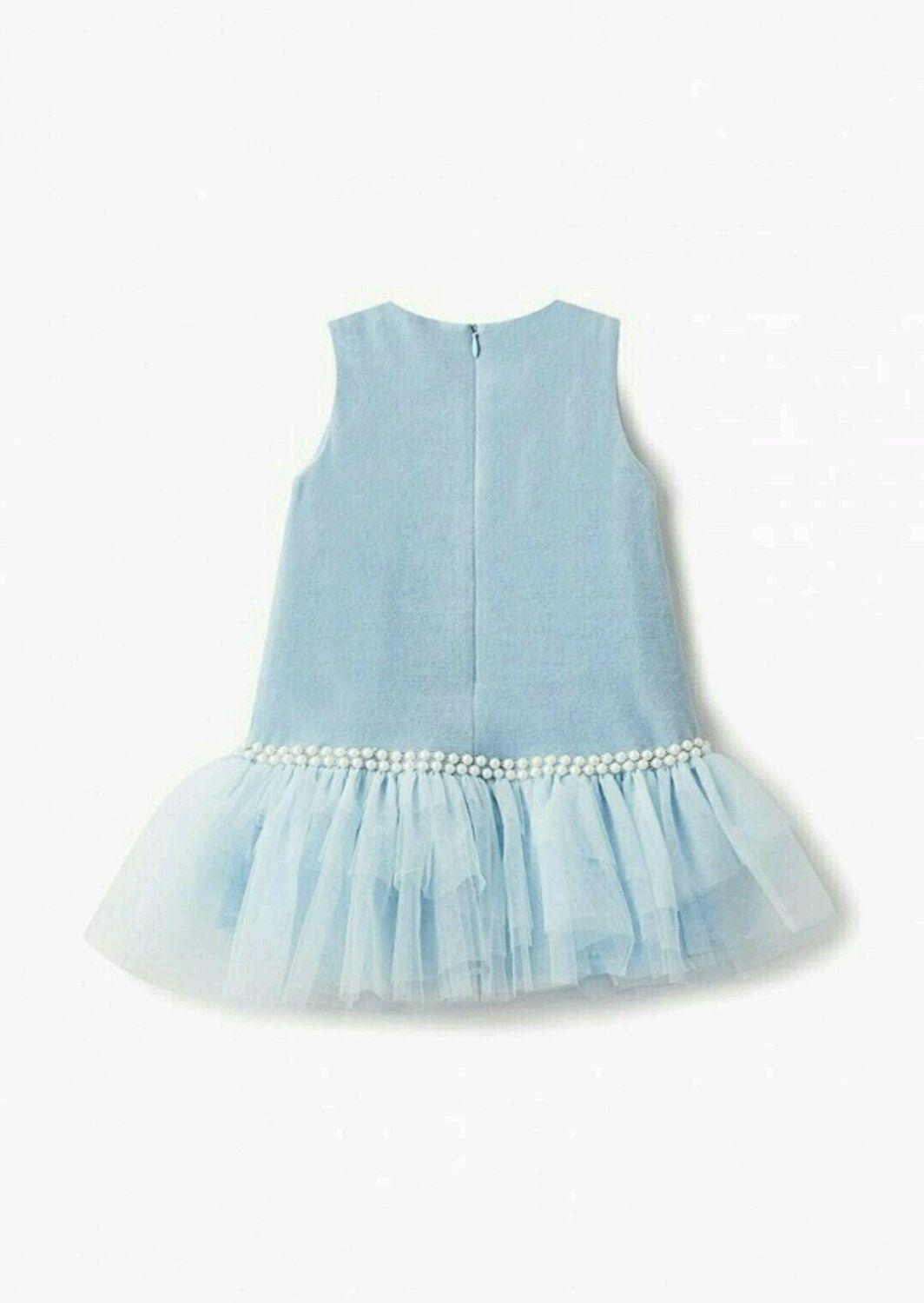 Платье из крепа с отделкой