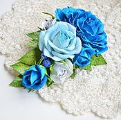handmade. Livemaster - original item Brooch with roses from tameran