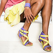 Обувь ручной работы handmade. Livemaster - original item Sandals made of genuine Python leather Amazon. Shoes from Python. Handmade.