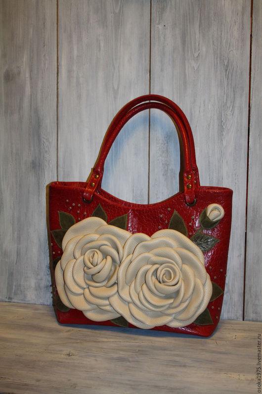 """Женские сумки ручной работы. Ярмарка Мастеров - ручная работа. Купить Женская сумка """"Белые розы. Вариант 2"""". Handmade."""