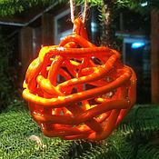 Сувениры и подарки handmade. Livemaster - original item Bell - Christmas ball Orange. Handmade.