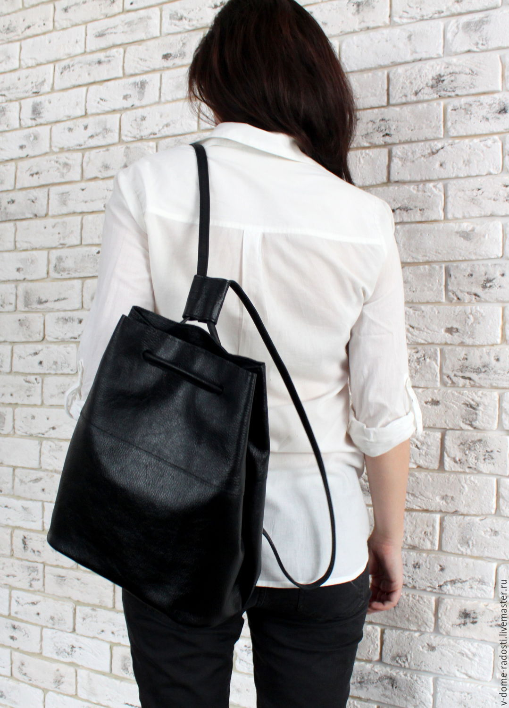 e358fd0bc3f8 Черный кожаный рюкзак, купить женский рюкзак, городской рюкзак, рюкзак на  лето, стильный ...