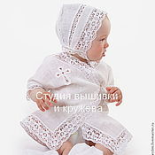 Работы для детей, handmade. Livemaster - original item Set for baby baptism 209. Handmade.