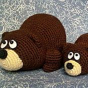 Куклы и игрушки ручной работы. Ярмарка Мастеров - ручная работа Семья мишек (медведи мама и малыш). Handmade.