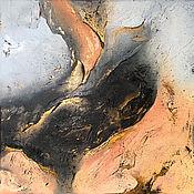 Картины ручной работы. Ярмарка Мастеров - ручная работа Купить интерьерную картину художника современная абстракция с золотом. Handmade.