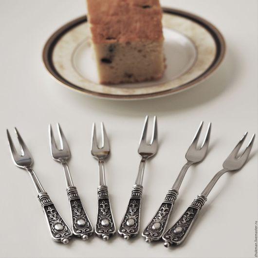 Подарки на свадьбу ручной работы. Ярмарка Мастеров - ручная работа. Купить Набор АМПИР вилки для лимона (6 шт.) Большие закусочные вилки. Handmade.