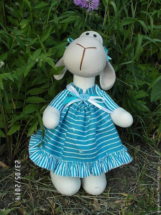 Игрушки животные, ручной работы. Ярмарка Мастеров - ручная работа. Купить Овечка Соня. Handmade. Голубой, овечка игрушка, флис