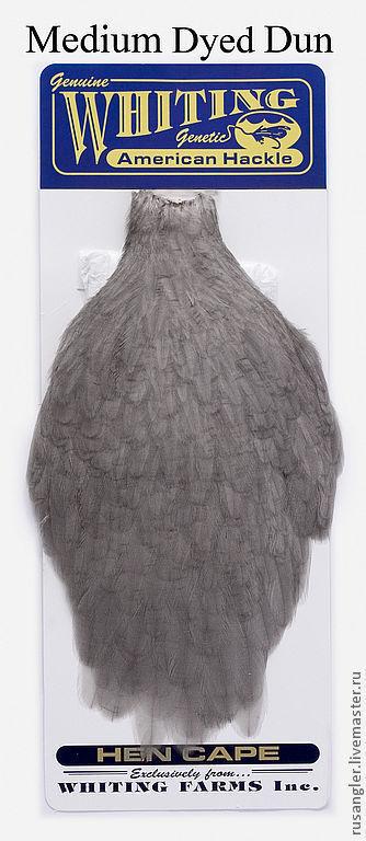 Другие виды рукоделия ручной работы. Ярмарка Мастеров - ручная работа. Купить Перья American Hen Cape Medium Dyed Dun (42801222). Handmade.
