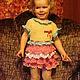 Одежда для девочек, ручной работы. Ярмарка Мастеров - ручная работа. Купить платье для девочки Воланчики. Handmade. Разноцветный, платье вязаное