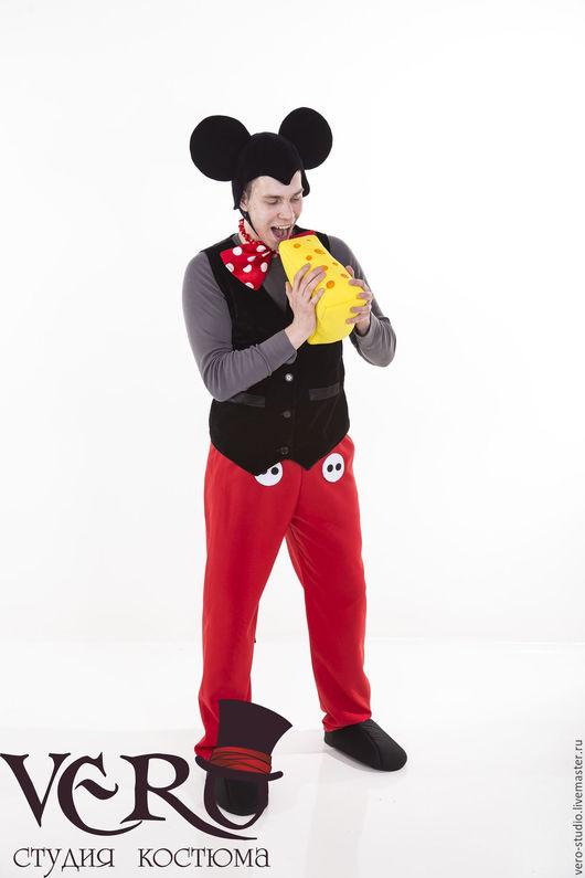 Карнавальные костюмы ручной работы. Ярмарка Мастеров - ручная работа. Купить Костюм Микки Маус. Handmade. Ярко-красный