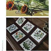 Винтаж handmade. Livemaster - original item Herbarium... Vintage Handmade Coasters!. Handmade.