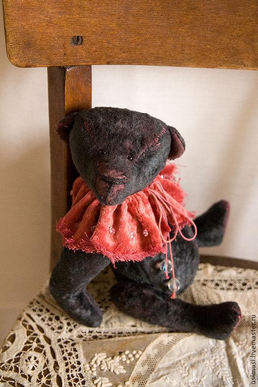 Мишки Тедди ручной работы. Ярмарка Мастеров - ручная работа. Купить Руперт. Handmade. Темно-серый, интерьерная игрушка, тортюр