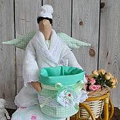 """Куклы и игрушки ручной работы. Ярмарка Мастеров - ручная работа Тильда""""Хранительница ватных палочек """". Handmade."""