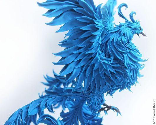 """Игрушки животные, ручной работы. Ярмарка Мастеров - ручная работа. Купить фигурка больша """"Синяя птица счастья"""" (жарптица, статуэтка синей птицы). Handmade."""
