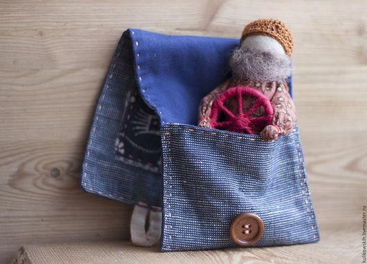 Народные куклы ручной работы. Ярмарка Мастеров - ручная работа. Купить Куколка в кармашке Спиридон-солнцеворот. Handmade. Спиридон, мужчине