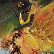 Сувениры и подарки handmade. Livemaster - original item Fiery diva - oil painting. Handmade.