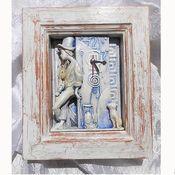 """Для дома и интерьера ручной работы. Ярмарка Мастеров - ручная работа Часы """"Уличный музыкант"""". Handmade."""