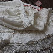 Одежда ручной работы. Ярмарка Мастеров - ручная работа Юбка с кружевом белая двойная , бохо-стиль, шебби, прованс, оборки.. Handmade.