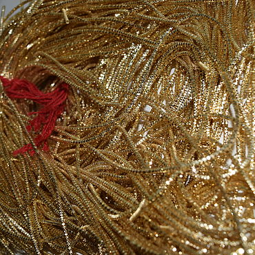 Материалы для творчества ручной работы. Ярмарка Мастеров - ручная работа Канитель трунцал металл 2 мм. Handmade.