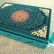 Подарки к праздникам handmade. Livemaster - original item KORAN in Arabic with Russian translation by E. Kuliyev leather binding. Handmade.