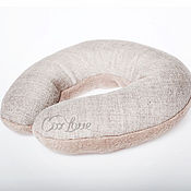 Сувениры и подарки ручной работы. Ярмарка Мастеров - ручная работа Греющая арома-подушка на шею серая. Handmade.