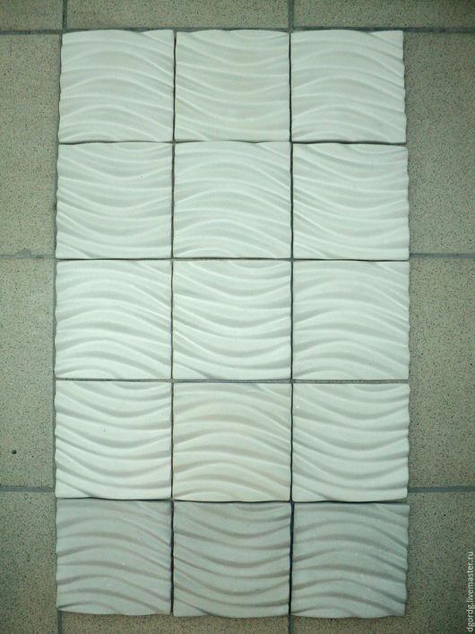 Элементы интерьера ручной работы. Ярмарка Мастеров - ручная работа. Купить плитка гипсовая декоративная. Handmade. Белый, панно на стену