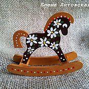 Куклы и игрушки ручной работы. Ярмарка Мастеров - ручная работа Лошадка ромашкового цвета. Handmade.