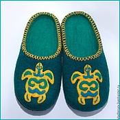 """Обувь ручной работы. Ярмарка Мастеров - ручная работа Тапочки """"Черепахи2"""". Handmade."""