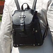 Сумки и аксессуары handmade. Livemaster - original item Backpack leather women`s black