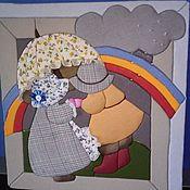 Картины ручной работы. Ярмарка Мастеров - ручная работа Картины: Дети и радуга. Handmade.