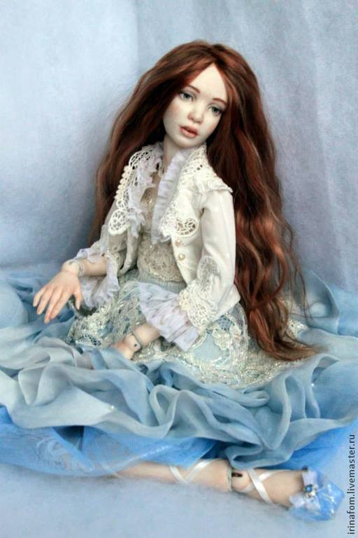 """Коллекционные куклы ручной работы. Ярмарка Мастеров - ручная работа. Купить """"Голубая Орхидея"""". Handmade. Голубой, подарок, тонкая работа"""