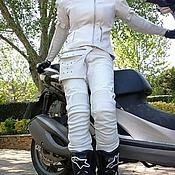 Одежда ручной работы. Ярмарка Мастеров - ручная работа Кожаный мотокомбинезон. Handmade.
