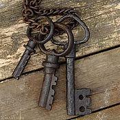 Для дома и интерьера ручной работы. Ярмарка Мастеров - ручная работа Связка ключей 18-19 вв. Старинные ключи на цепи. Старинный ключ. Handmade.