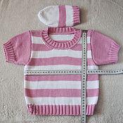 Работы для детей, ручной работы. Ярмарка Мастеров - ручная работа Летний джемпер/футболка из хлопка (шапочка в подарок). Handmade.