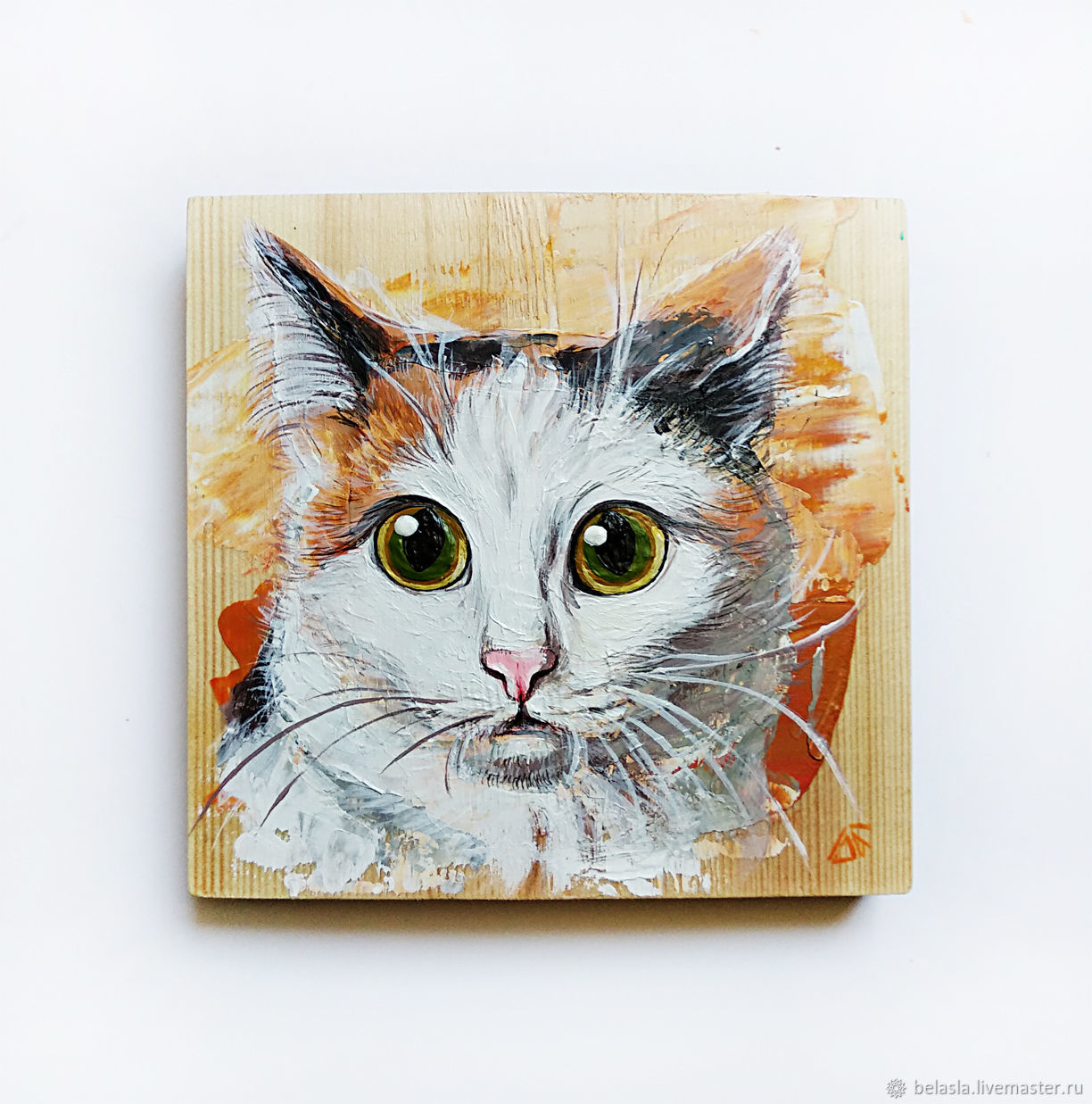 Portrait Pet painting on wood, Pictures, Moscow,  Фото №1
