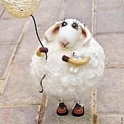 Куклы и игрушки ручной работы. Ярмарка Мастеров - ручная работа Овечка Одуванчик. Handmade.