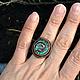 """Кольца ручной работы. Заказать Перстень """"Спираль"""". Мастерская ГришЛАНдия (grishlandia). Ярмарка Мастеров. Перстень с камнем, спиральный перстень"""