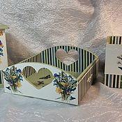 """Для дома и интерьера ручной работы. Ярмарка Мастеров - ручная работа набор для кухни """"Зеленый чай"""". Handmade."""