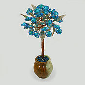 handmade. Livemaster - original item Tree with turquoise